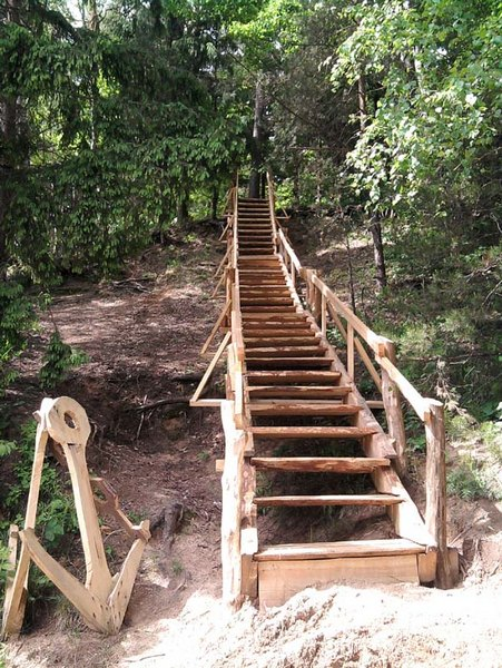 Лестница к озеру своими руками 20
